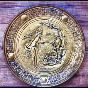 Vintage English Brass Plate